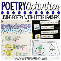 Poetry Activities for the Primary Classroomhttp://www.onesharpbunch.com/2016/03/poetry-activities-for-primary-classroom.html