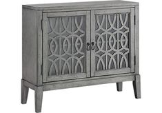 Godric Pointe Gray Accent Cabinet. $399.99. 40.5W x 14.5D x 35.5H. Find affordable Accent Cabinets for your home that will complement the rest of your furniture.