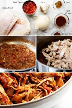 An easy recipe for authentic Mexican Chicken Tinga! Just a few simple ingredients and one pot (or slow cooker or crockpot Easy Summer Meals, Healthy Summer Recipes, Easy Dinner Recipes, Easy Meals, Mexican Food Recipes, Real Food Recipes, Vegetarian Recipes, Chicken Tinga Recipe, Enchilada Recipes
