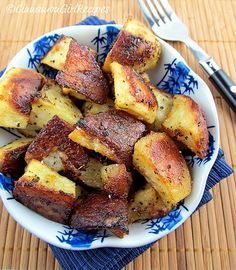 Potatoes tossed in a mustard dressing and roasted to golden brown perfection!