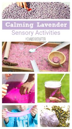 Calming Lavender sensory activities perfect for play