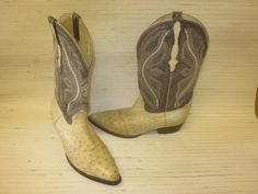 Ferrini Men's Patchwork Gator Ostrich Cowboy Boots - Square Toe ...