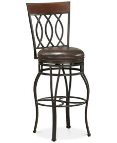 Bella Faux Leather Counter Height Bar Stool, Quick Ship - Brown