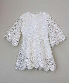 Love this White Lace Sweetie Dress - Toddler & Girls on #zulily! #zulilyfinds