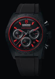 Tudor Montre Black Shield en Céramique - Bracelet Caoutchouc pour Homme - Collection Fastrider Référence : 42000CR