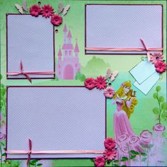 Free Disney Scrapbook Layouts | ... scrapbook layout Featuring Disney's Aurora, Add a name for Free