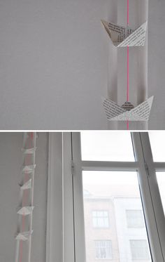 paper boat mobile fantastic idea