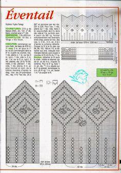 Cortina tejida al crochet - con diagrama y patrones