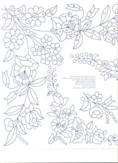 Gallery.ru / Фото #34 - vysivka hladka - ab1 - Helena10 Hand Embroidery Patterns, Floral Embroidery, Cross Stitch Embroidery, Cross Stitch Patterns, Painting Patterns, Craft Patterns, Fabric Painting, Bordado Jacobean, Hungarian Embroidery