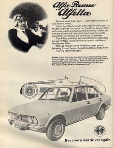 Classic Car News Pics And Videos From Around The World Alfa Cars, Alfa Alfa, Alfa Romeo Cars, Vintage Italian, Vintage Ads, Vintage Posters, Classic Motors, Classic Cars, Carros Alfa Romeo