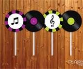 music themed birthday party -