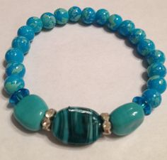 Aqua mix bracelet via Etsy