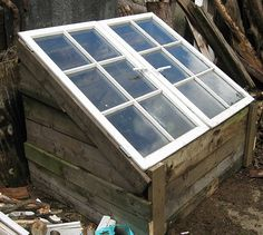 Turn pallets and old windows into a new cold frame!!