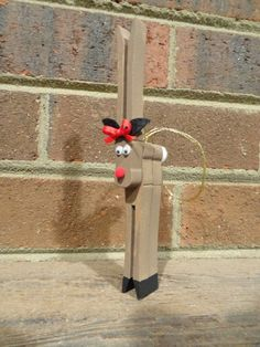 Reindeer Clothes Pin Ornament by nichollsnicknacks on Etsy, $6.00