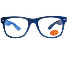 Blue geek glasses