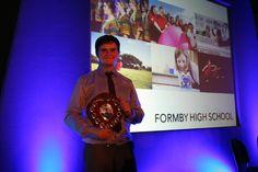 Jack (Y12) winning the 'Marysia Ogilby Award for Geography'