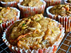 Easter Ginger, Carrot & Zucchini Breakfast Muffins