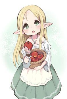 Cute Anime Chibi, Anime Girl Cute, Kawaii Anime Girl, Anime Art Girl, Bebe Anime, Anime Elf, Cute Kawaii Drawings, Kawaii Art, Cute Anime Character