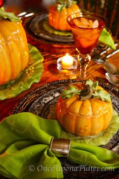 lovely autumn place setting.....