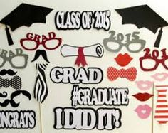cricut photo booth props for graduation - Google Search