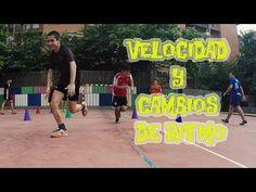 Ejercicios mejora velocidad y cambios de ritmo | Futsal speed drills - YouTube Soccer Drills, Basketball Court, Training, Sports, Youtube, Soccer Workouts, Hs Sports, Soccer Training, Work Outs
