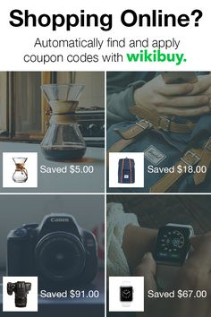 Love shopping online? Wikibuy is a must-have free Chrome extension that helps you save as you shop by automatically applying the best possible coupon code at checkout. Download the extension and start saving today.