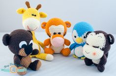 De data asta sunt cinci, și sunt diferite.   O girafă:  Un ursuleț:  Un pinguin:  O maimuță:  Și un mic tigrișor:   Enjoy   FollowShare