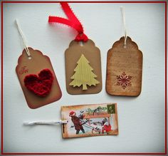 Shoregirl's Creations: Country Christmas Tags