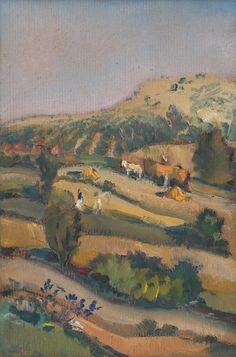 Martin Benka - Z myjavských kopaníc, 1935 Graphic Art, Illustration Art, Tapestry, Artist, Pictures, Painting, Hanging Tapestry, Photos, Tapestries