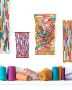 Alicia Scardetta is a Texas born, Brooklyn-based artist, her woven works are part tapestry, part friendship bracelet, and heavily influenced by color.