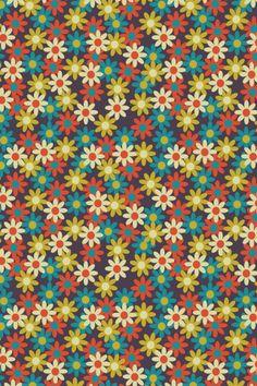 groovy granny pattern by MipsyRetro. Et Wallpaper, Flower Phone Wallpaper, Fabric Wallpaper, Pattern Wallpaper, Pretty Patterns, Vintage Patterns, Flower Patterns, Paper Background, Background Patterns
