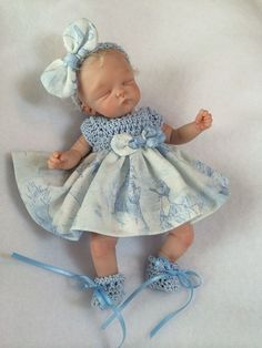 OOAK Hand Sculpted Mini Polymer Clay Baby Girl Miniature | eBay