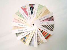2 x 3 Mini Thank You Cards with Envelope / Blank by HeartStreet