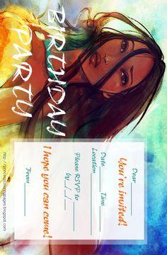 FREE printable Pocahontas party invite!