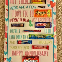 Candy Poster Board, Candy Bar Posters, Candy Board, Birthday Candy, 50th Birthday, Birthday Gifts, Birthday Basket, Funny Birthday, Birthday Ideas