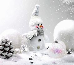 beeindruckendes Bild 'Oh Schneemann.gif' Merry Christmas Images Free, Merry Christmas To All, Magical Christmas, Christmas Scenes, Christmas Pictures, Christmas Colors, Christmas Snowman, Winter Christmas, Christmas Time