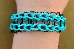 railroad bracelet rainbow loom