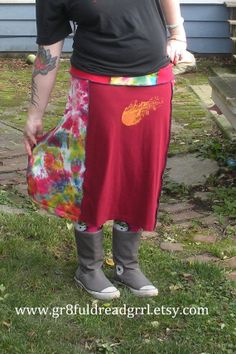 PHISH 2009 Tour Tie Dye T Skirt Patchwork S M by gr8fuldreadgrrl, $40.00