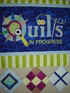 quilts in progress wall hanging
