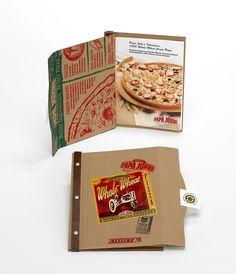 Custom Product Launch Kits, Press Kits by Sneller.  Custom Promotional Packaging.  Custom Marketing Materials.  www.snellercreative.com.  PAPA JOHN'S, Whole Wheat, Press Kit by Jeff Snell, via Behance