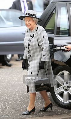 Britain's Queen Elizabeth II arrives at the HM Coast Guard Station in Bangor…
