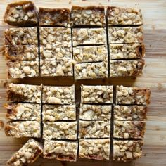 Salted Caramel & Espresso Oatmeal Crumb Bars from StrawberryPlum