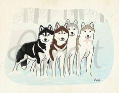 winter by SiberianArt on Etsy, $30.00