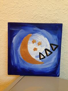 Small tri delta canvas by SororityGirlCrafter on Etsy, $10.00