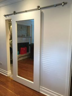 Mirror Framed Sliding Barn Door by RusticLuxeBoutique on Etsy