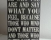 Vintage Feel Dr. Seuss Be Who You Are Painted Wood Sign