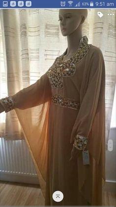 Wedding Kaftan Eid Farasha Jalabiya Khaleeji Party Dubai Morrocan Abaya Burka · $33.00 Khaleeji Abaya, Sari, Stuff To Buy, Dresses, Style, Fashion, Saree, Vestidos, Swag