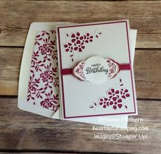 Stampin Up Label Me Pretty Birthday Card Idea - Rosanne Mulhern Heartfelt Stamping https://heartfeltstamping.com/2018/06/label-me-a-pretty-birthday/