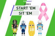Start 'Em & Sit 'Em for Week 8 Fantasy Football, Ems, Content, Week 5, Movie Posters, People, Bench, Film Poster, People Illustration