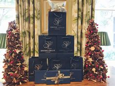 How about these beautiful gift bags & gift voucher boxes we made for the stunning 5 star hotel They have a range of fantastic Christmas gift ideas from Clay Pigeon Shooting, Classic Three Tier Afternoon Tea, Dinner for two in The Falls or Ful Clay Pigeon Shooting, Tin Gifts, Dinner For Two, Gift Vouchers, Promote Your Business, Spa Day, 5 Star Hotels, Tins, Afternoon Tea